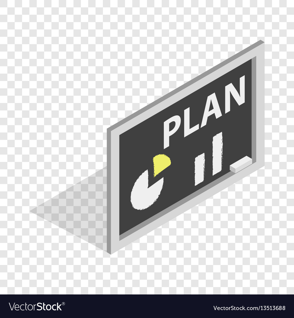 Board with plan isometric icon