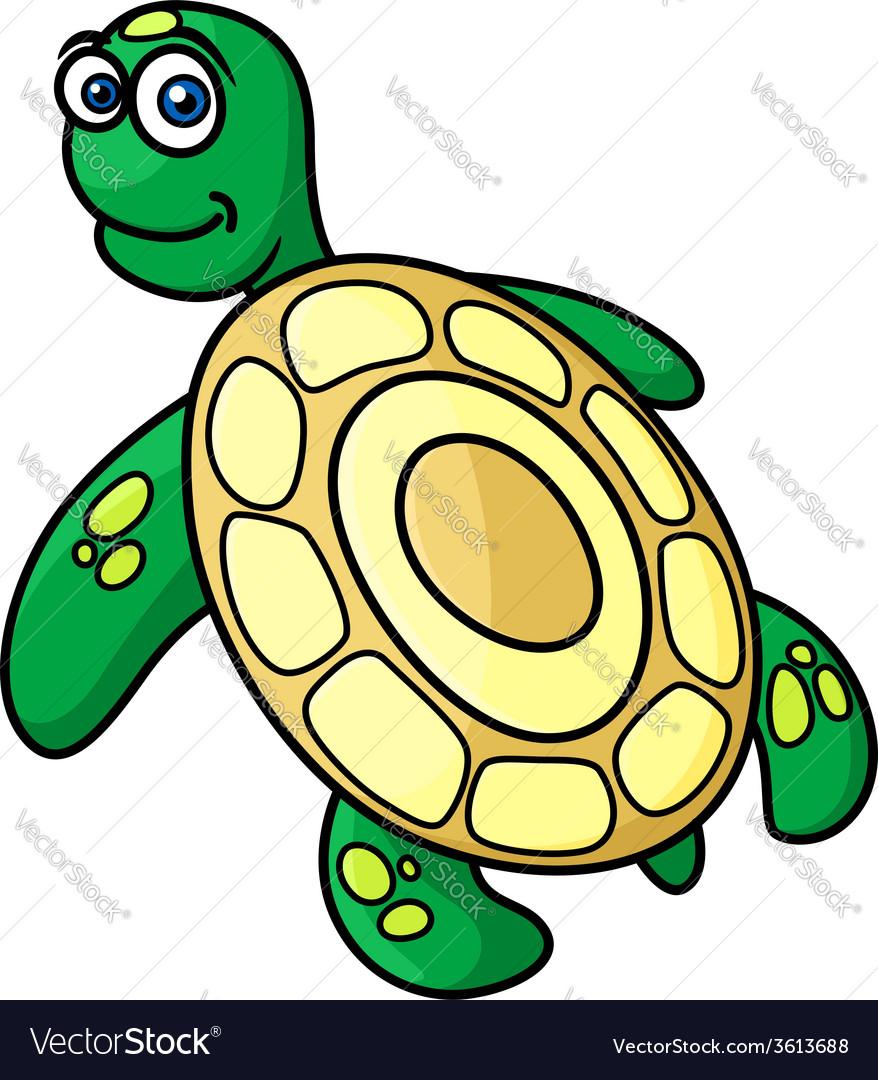 Cartoon sea turtle character