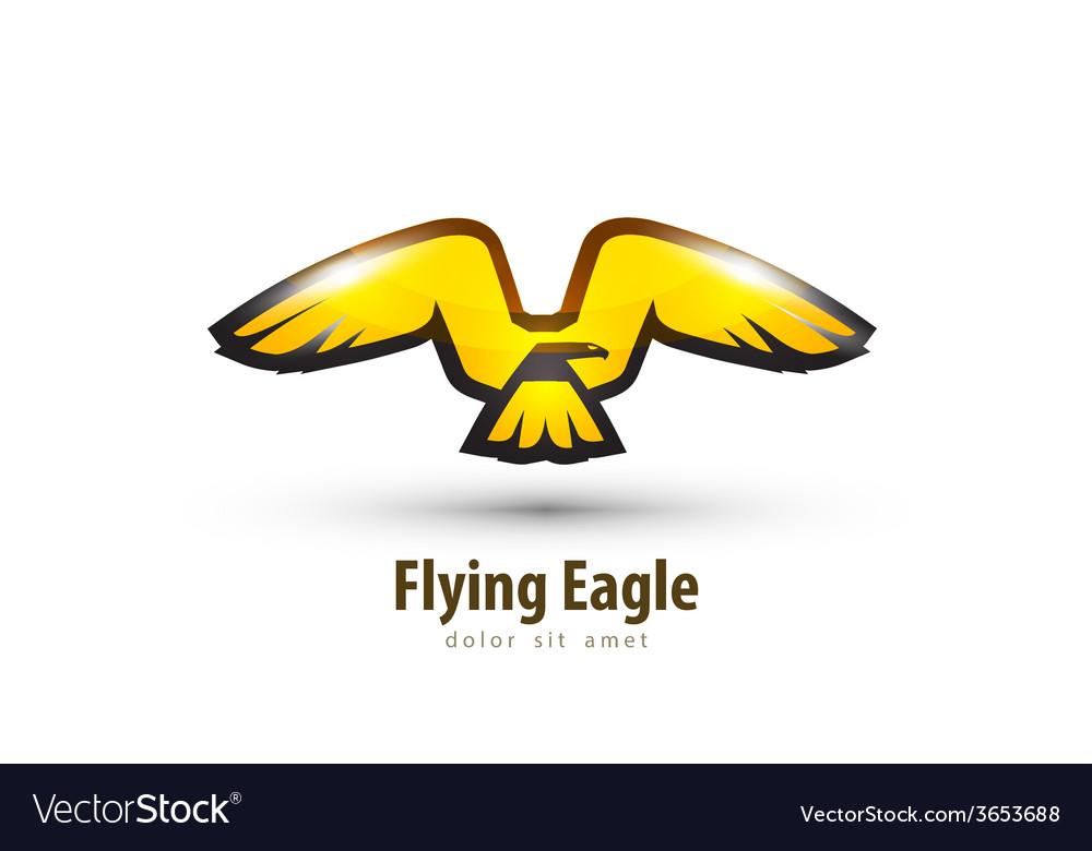 eagle logo design template bird or animal icon vector image