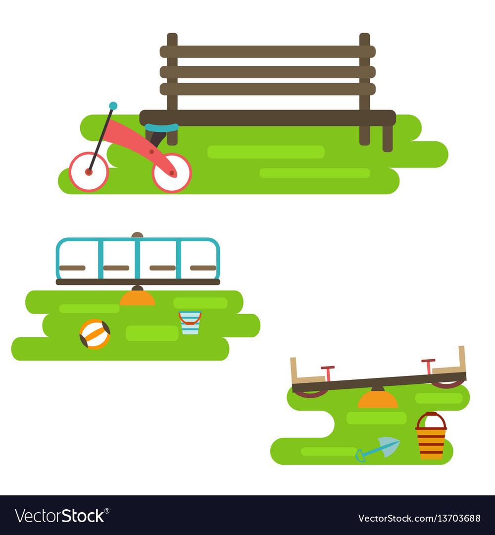 Kids playground elements