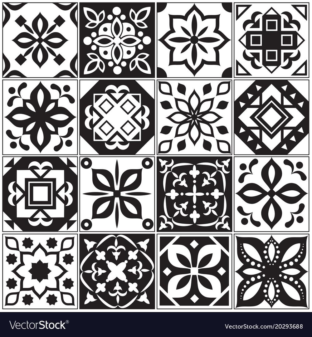 Modern interior spanish and turkish tiles kitchen vector image