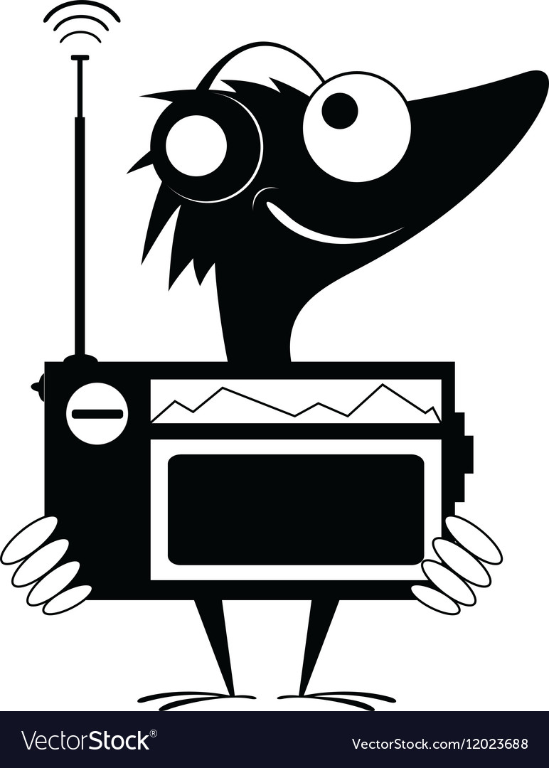 Radio fun vector image