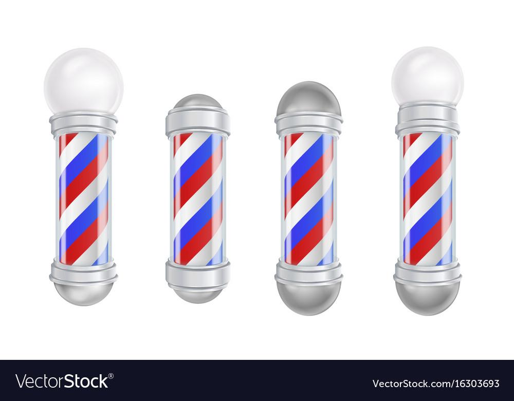 Barber shop pole 3d classic barber shop