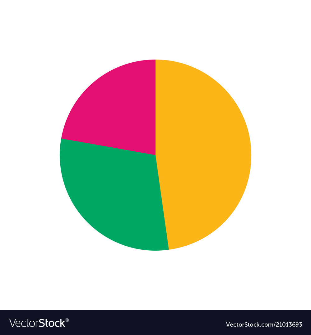 Colorful business pie chart for your documents
