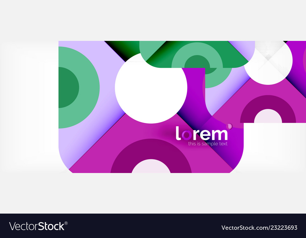 Colorful trendy geometric shapes background