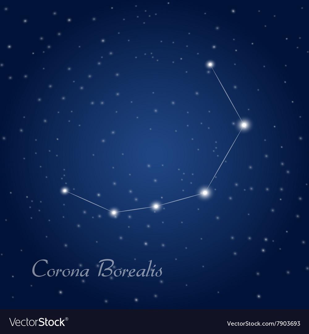 Corona Borealis Constellation Royalty Free Vector Image