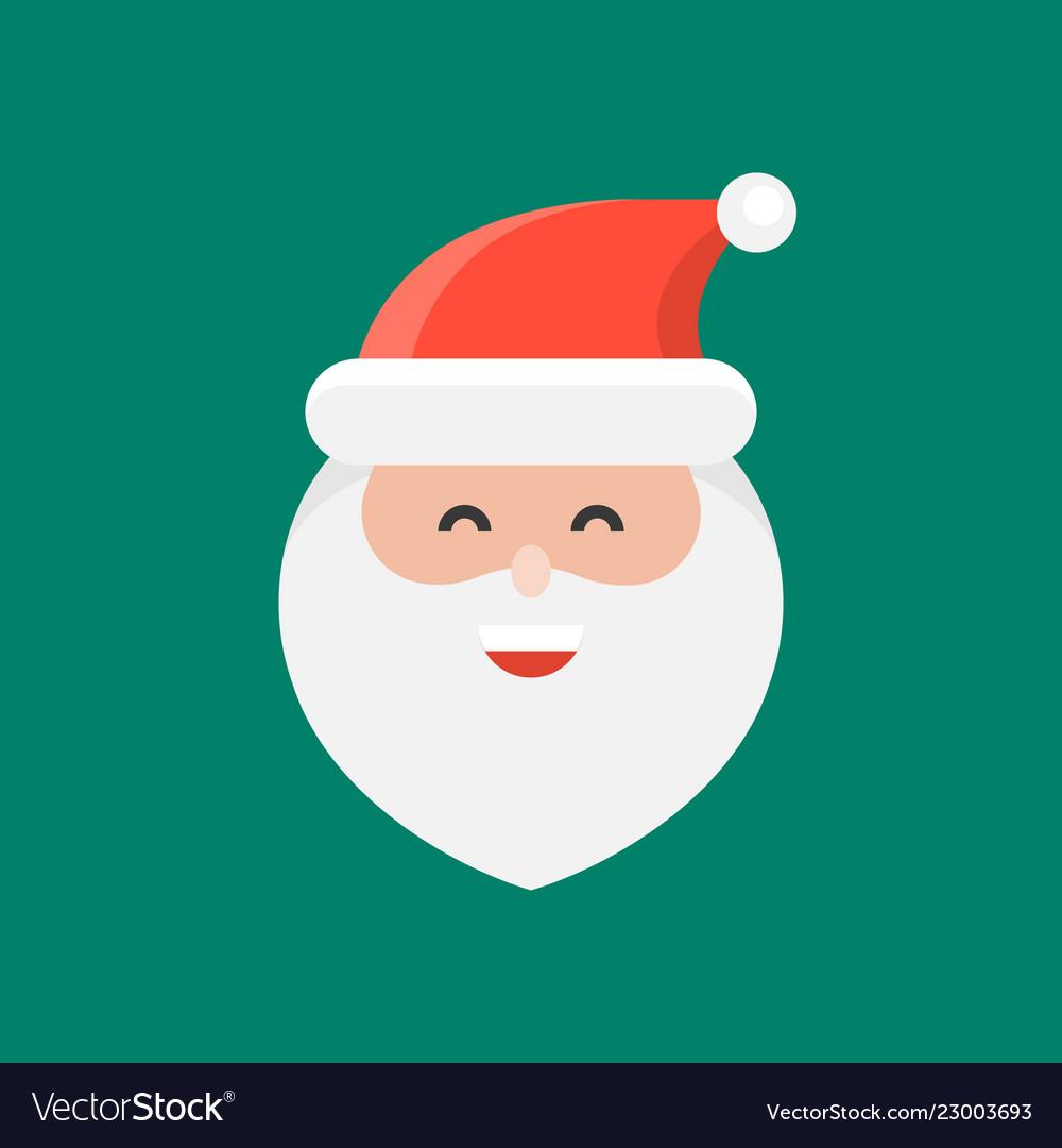 cute santa claus emoticon flat design royalty free vector  vectorstock