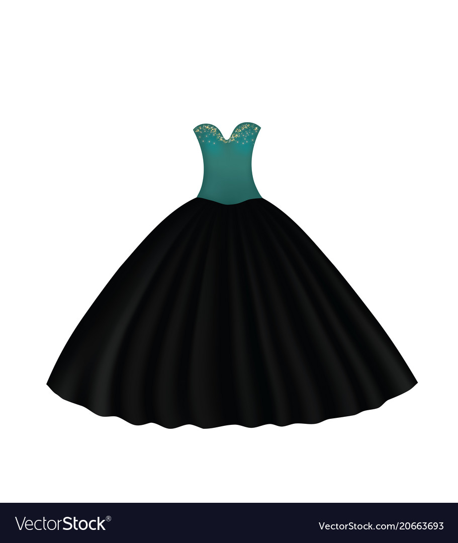 Elegant gown dress Royalty Free Vector Image - VectorStock