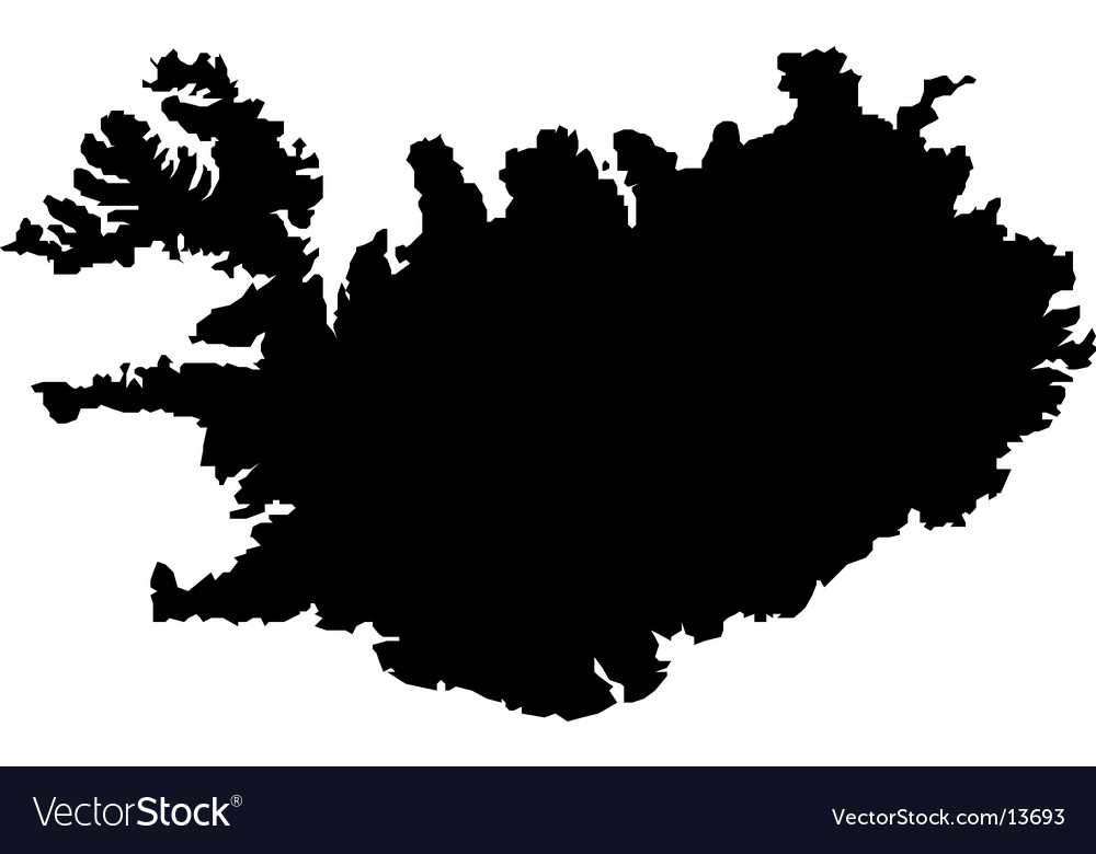 map of iceland outline. wallpaper Iceland outline map