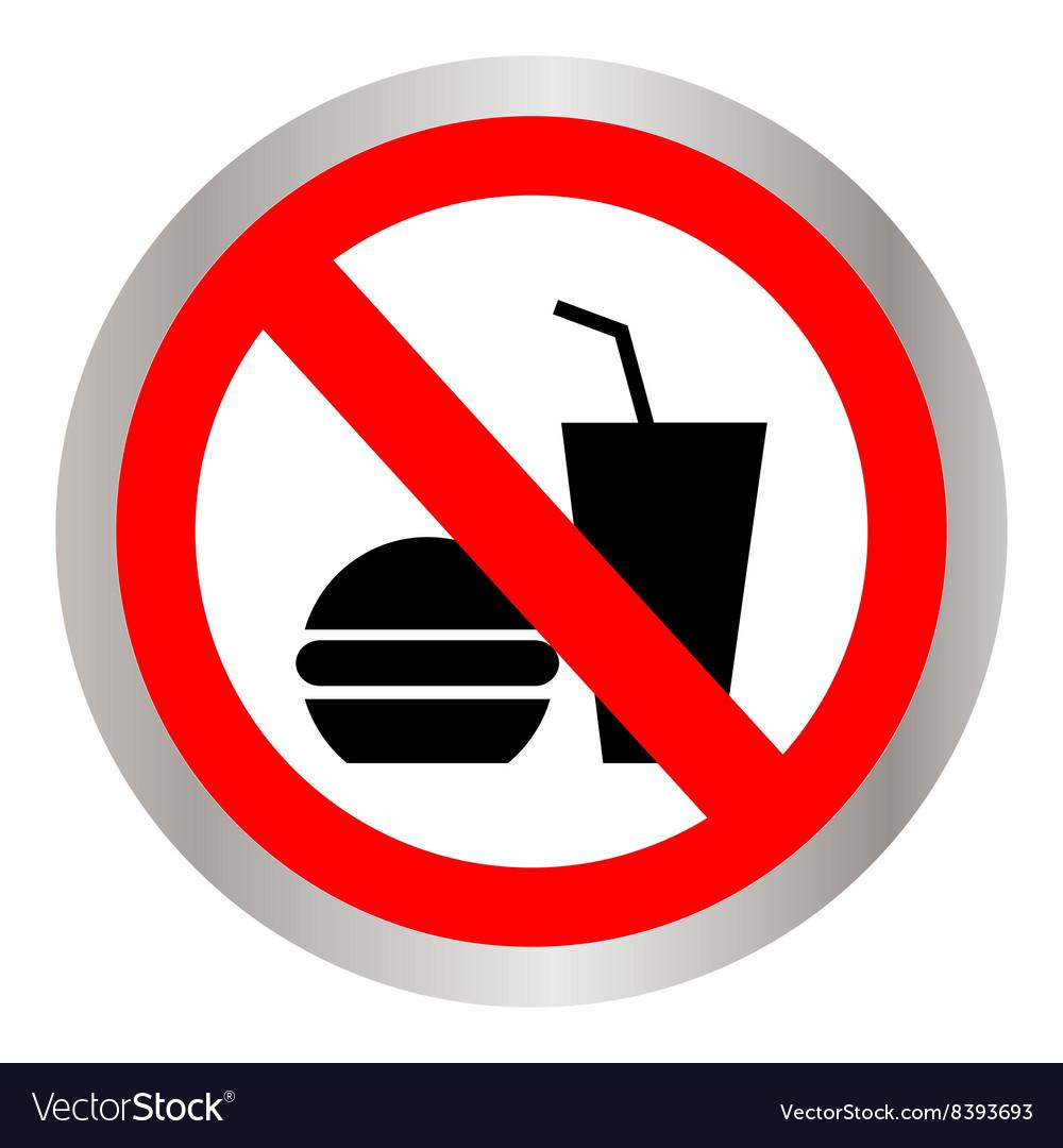 No food allowed symbol