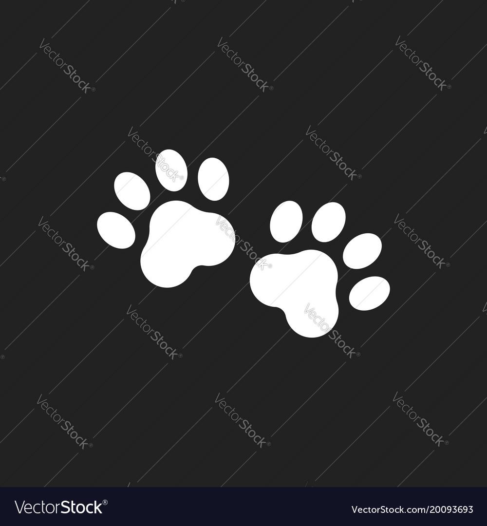 Paw print icon dog or cat pawprint animal