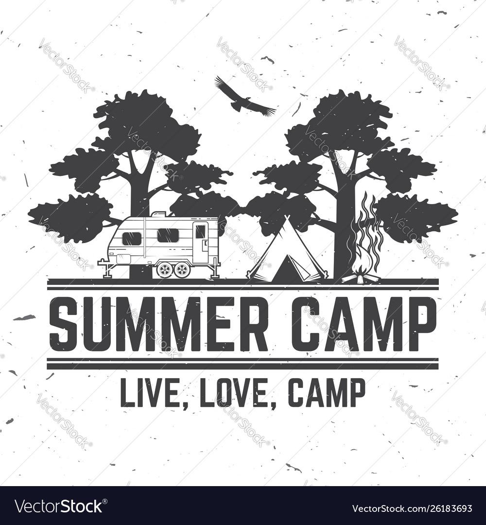 Summer camp concept