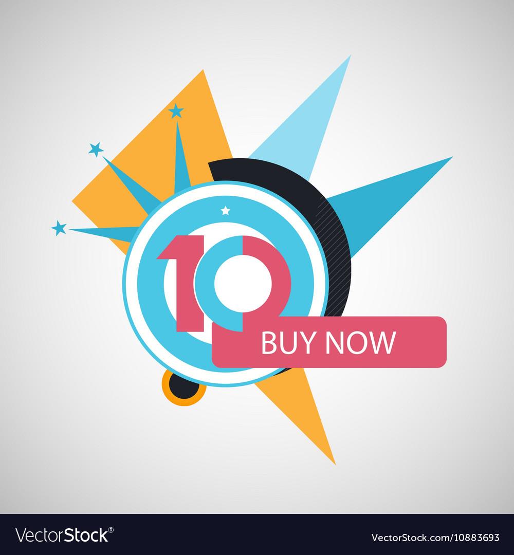 Ten symbol years anniversary logo discount