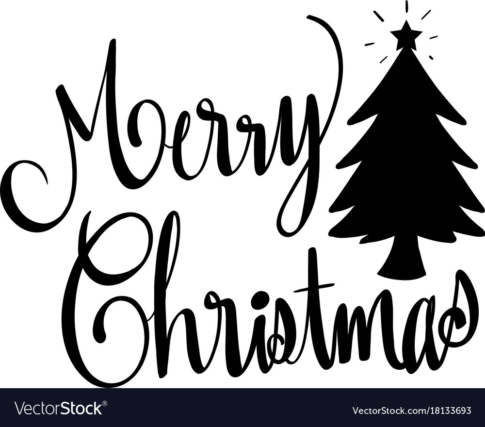 Word expressions for merry christmas Royalty Free Vector
