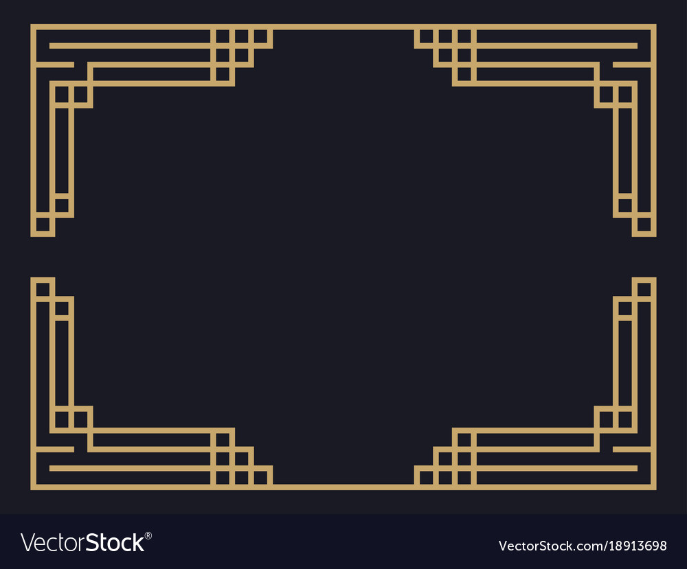 Art Deco Frame Vintage Linear Border Design Vector Image Download high quality art deco border clip art from our collection of 41,940,205 clip art graphics. vectorstock