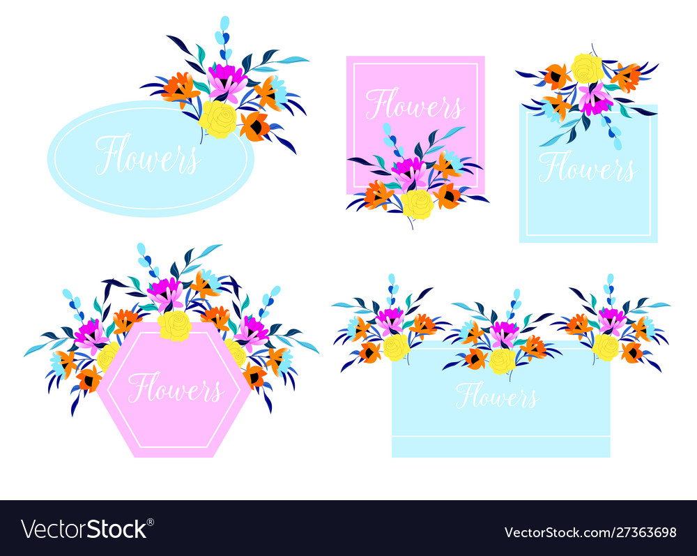 Beautiful wedding and invitation card with floral