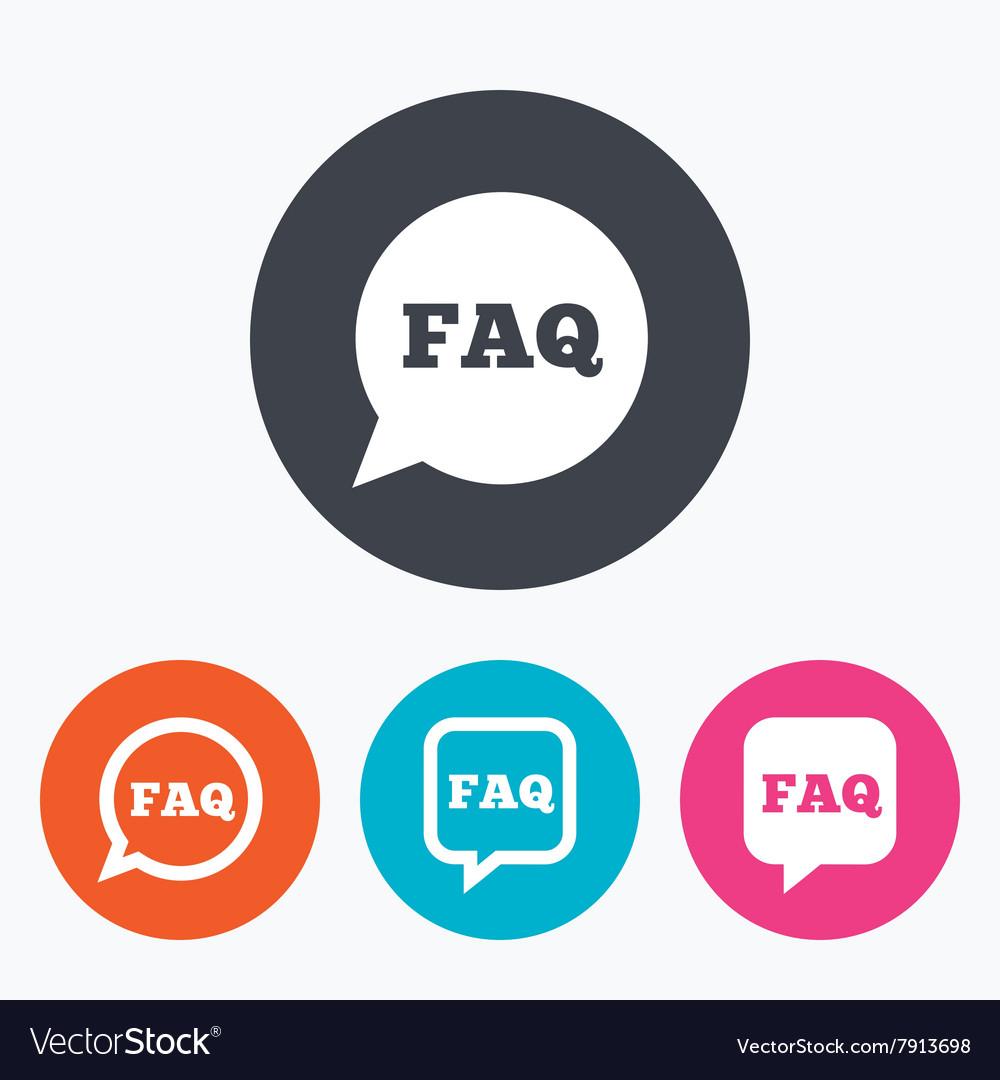 FAQ information signs Help speech bubbles vector image
