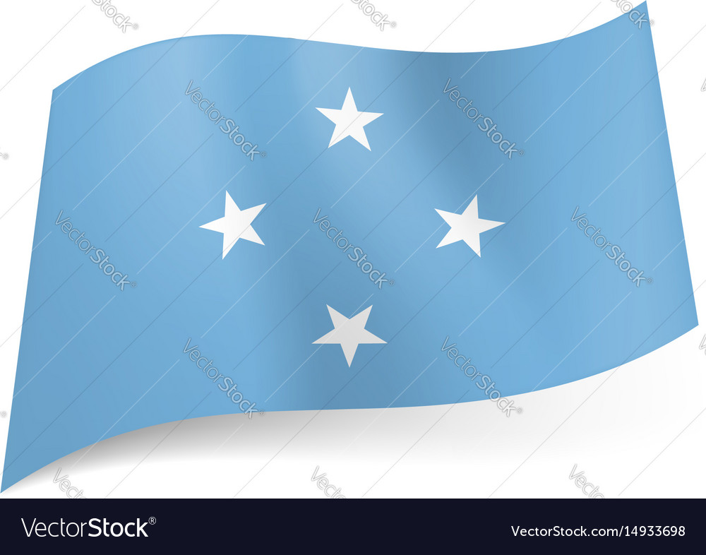 Flag of federated states of micronesia four white