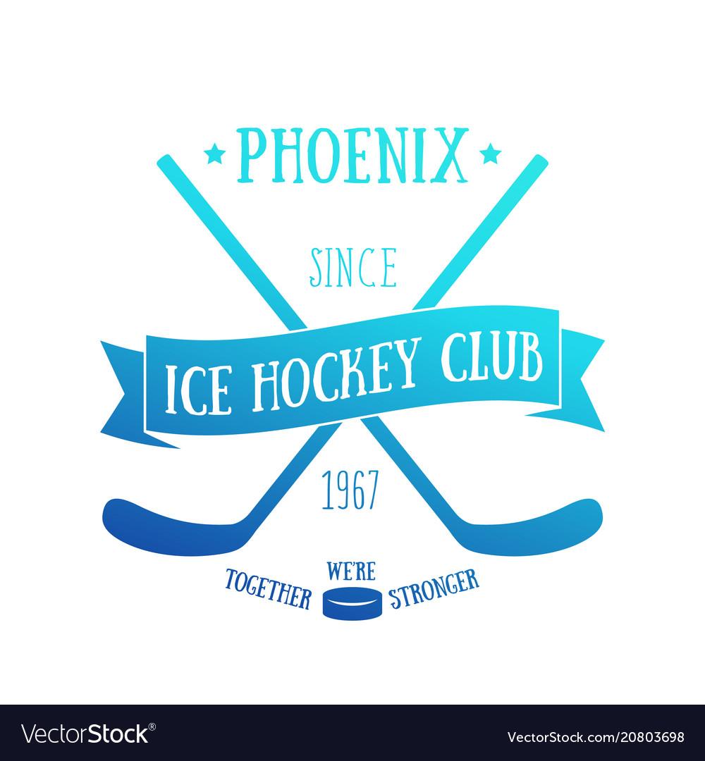 Ice hockey club t-shirt design print