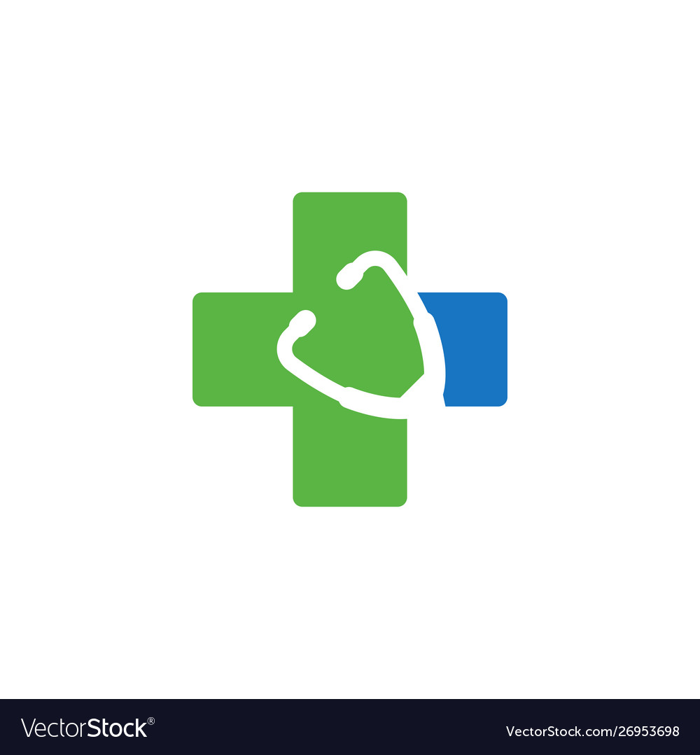Medical cross graphic design template isolated