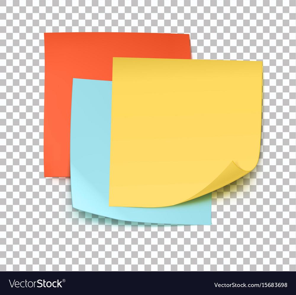 multicolor post it notes royalty free vector image rh vectorstock com post it note vector graphic post it note pin vector
