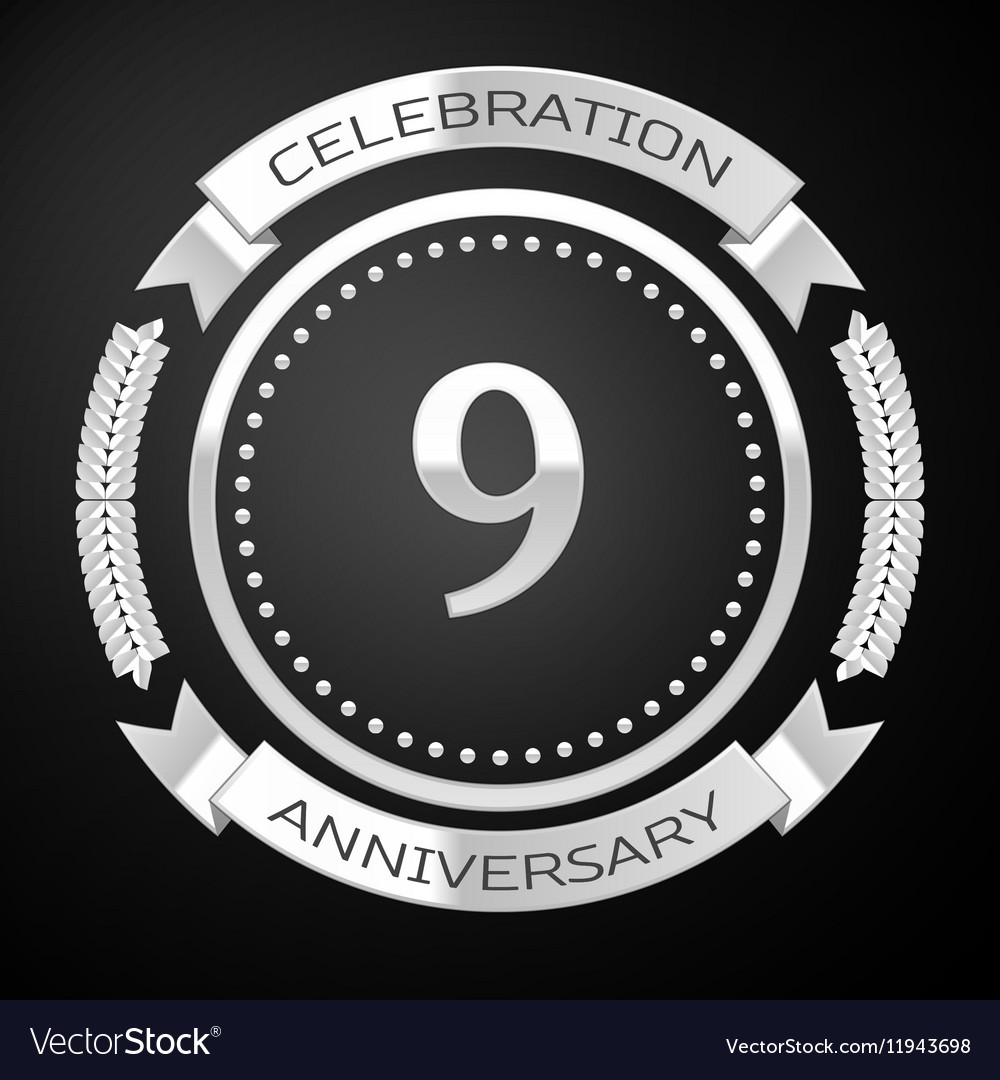 Nine years anniversary celebration with silver