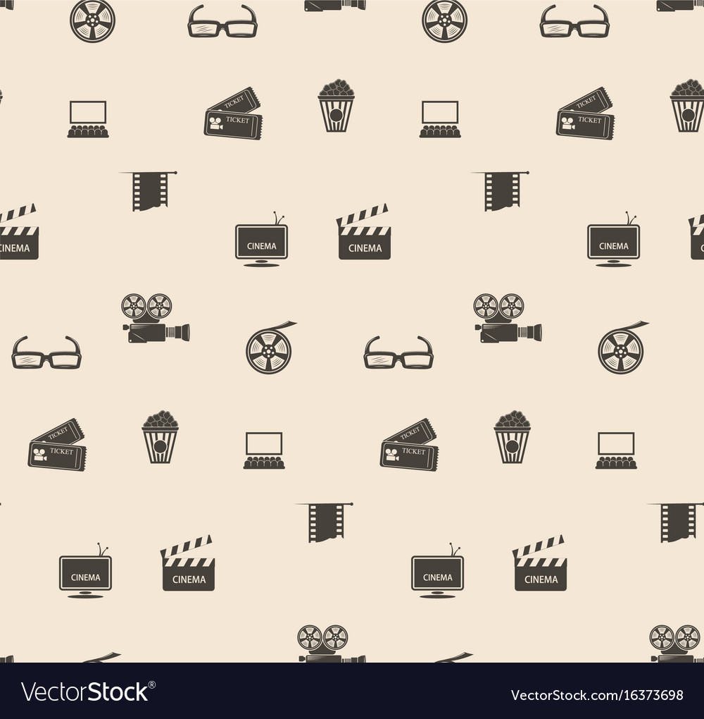 Seamless pattern film frame