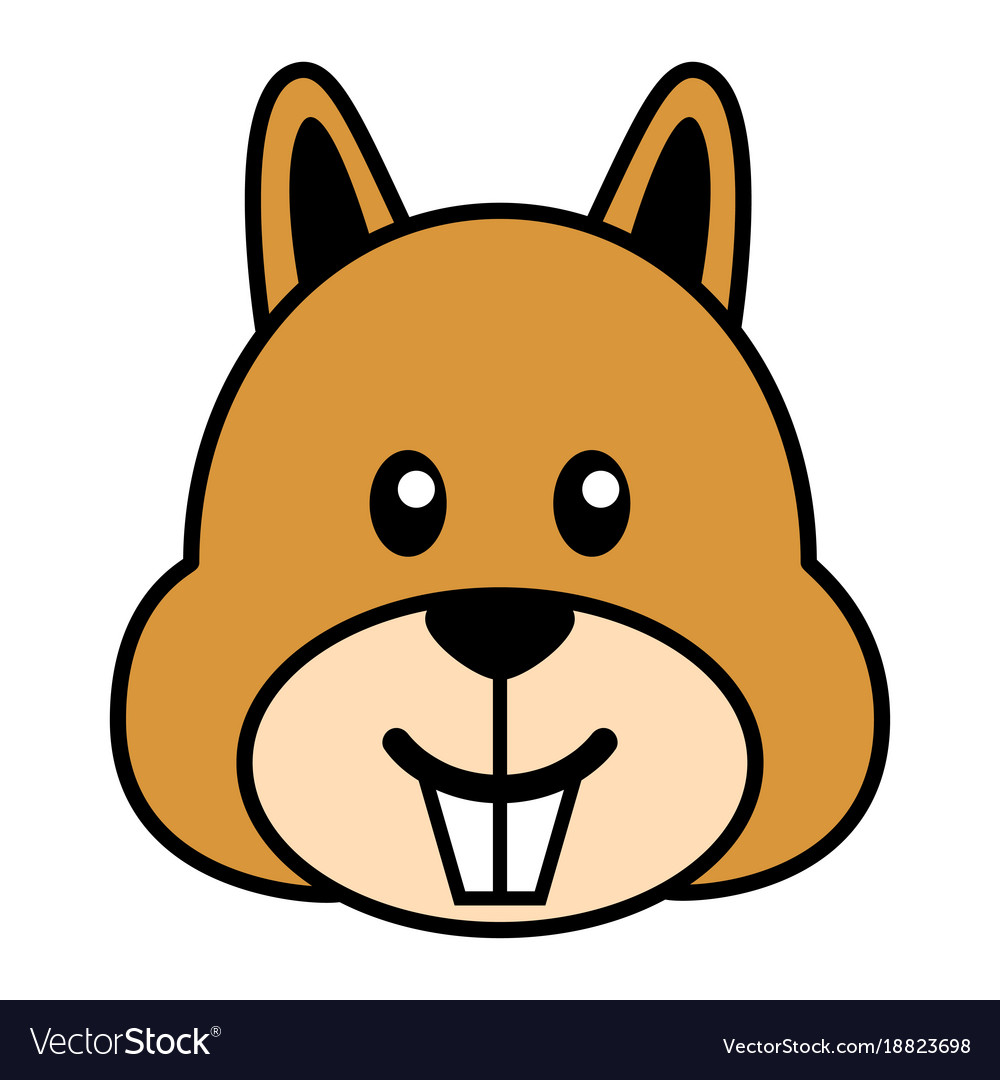 Simple cartoon of a cute squirrel vector image