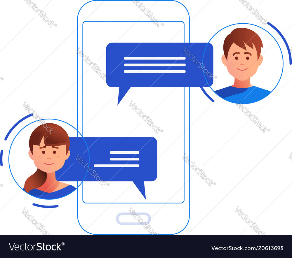 Social networking concept chatting