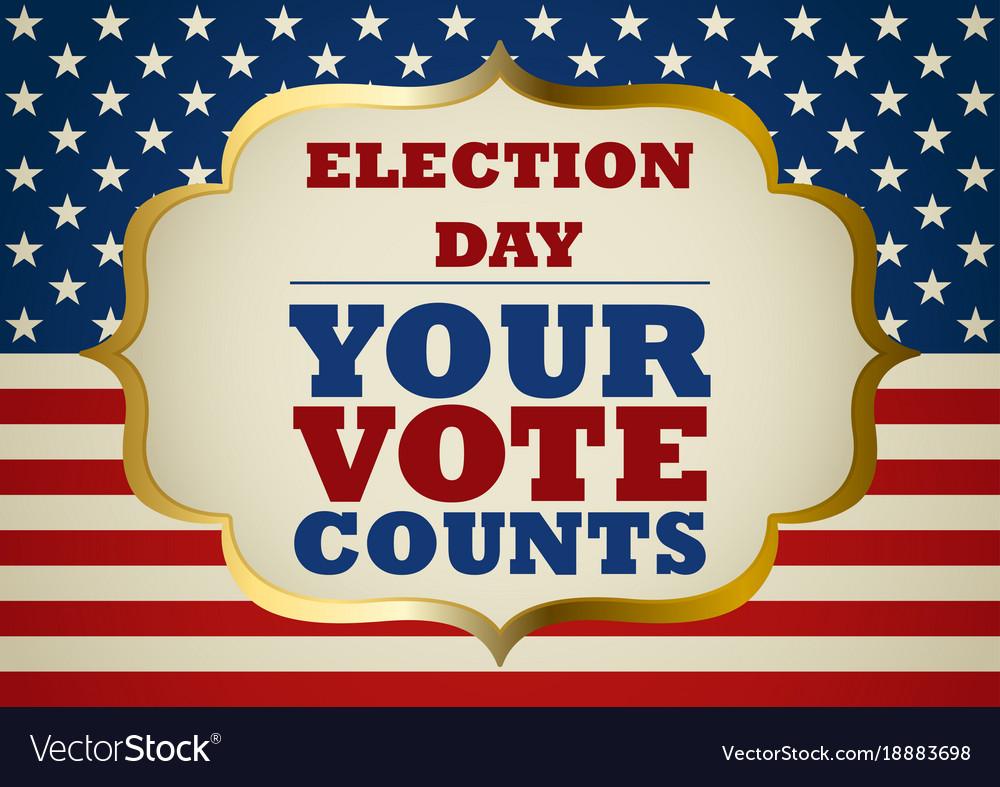 Usa election day symbol