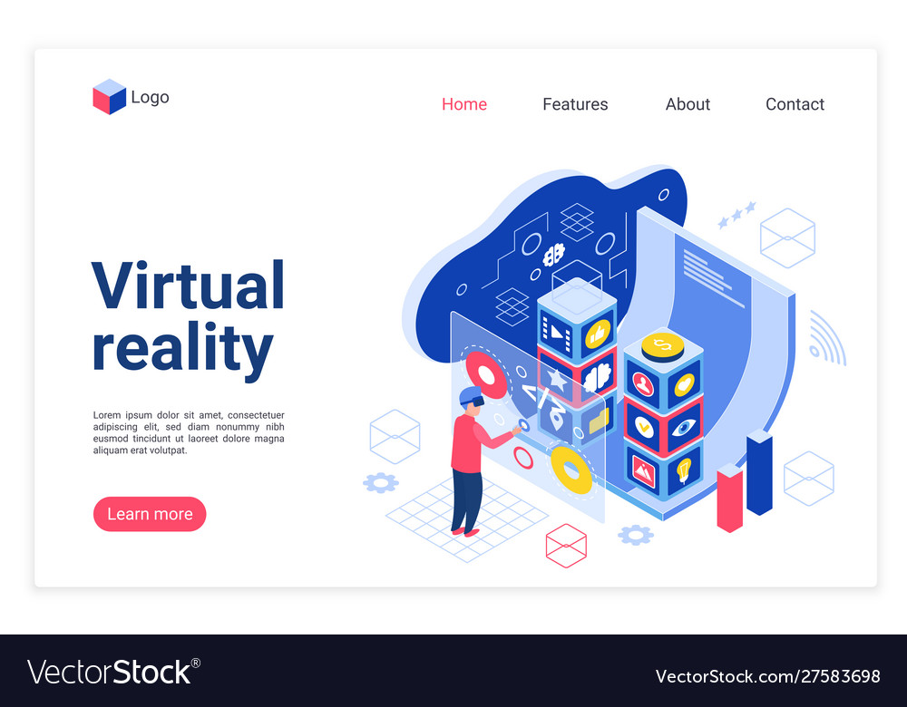 Vr technology landing page template