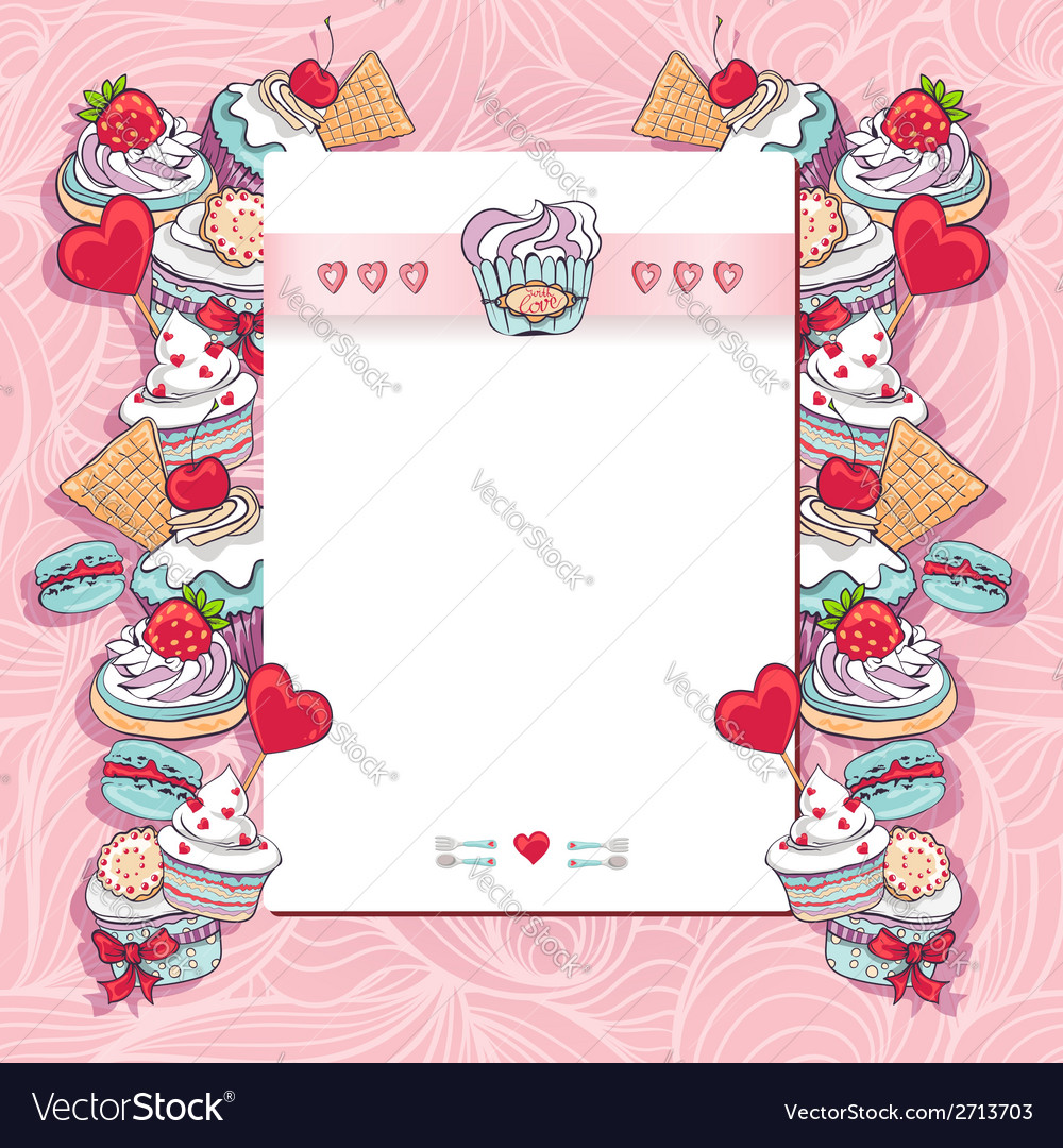 Birthday card with a cupcake