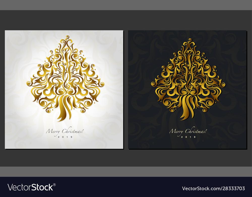 Christmas postcard design ornamental christmas