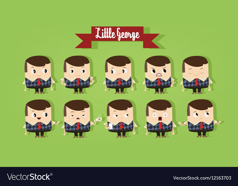 Digital cute young school boy vector image