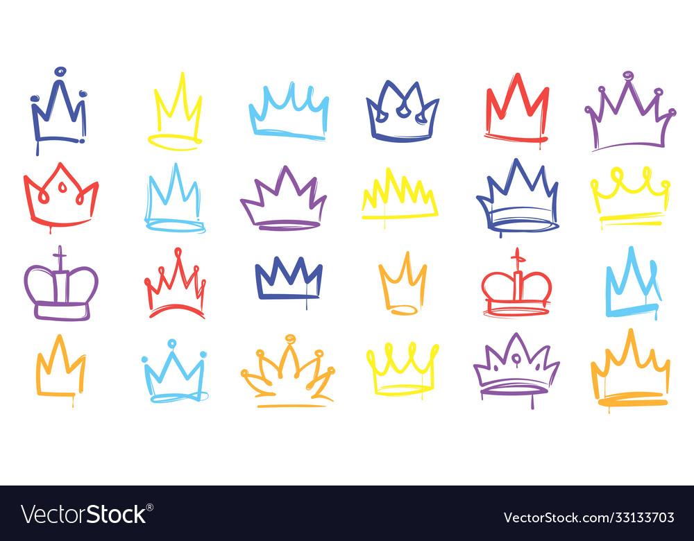 King sketch crown color elegant queen princess
