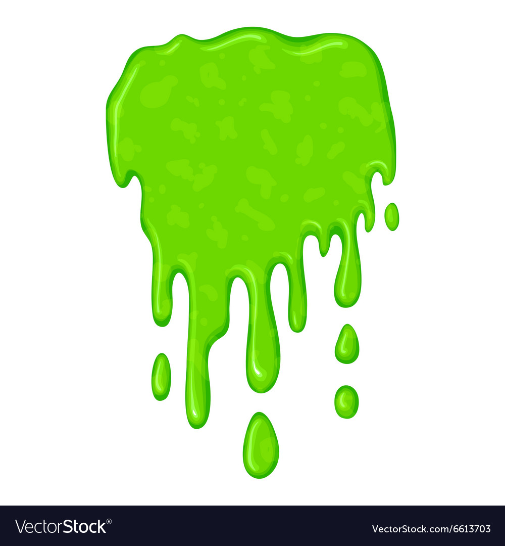 New Green Slime Symbol Royalty Free Vector Image