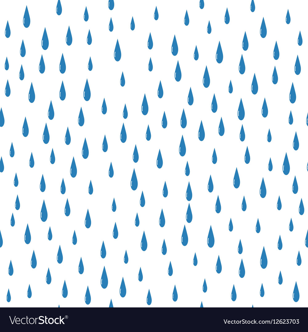 Rain drops on a white background isolated seamless