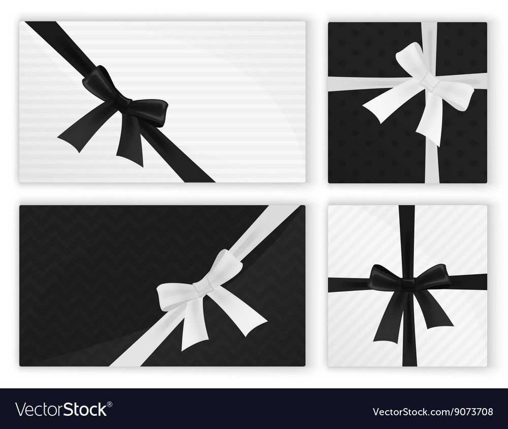 Black white fashion wrapped gift presents Gifts vector image