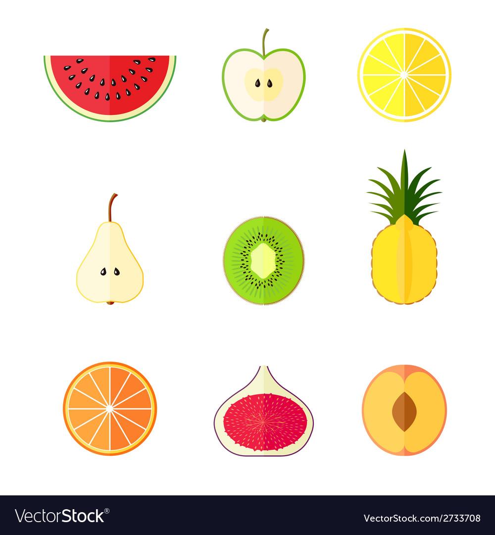 Flat fruits