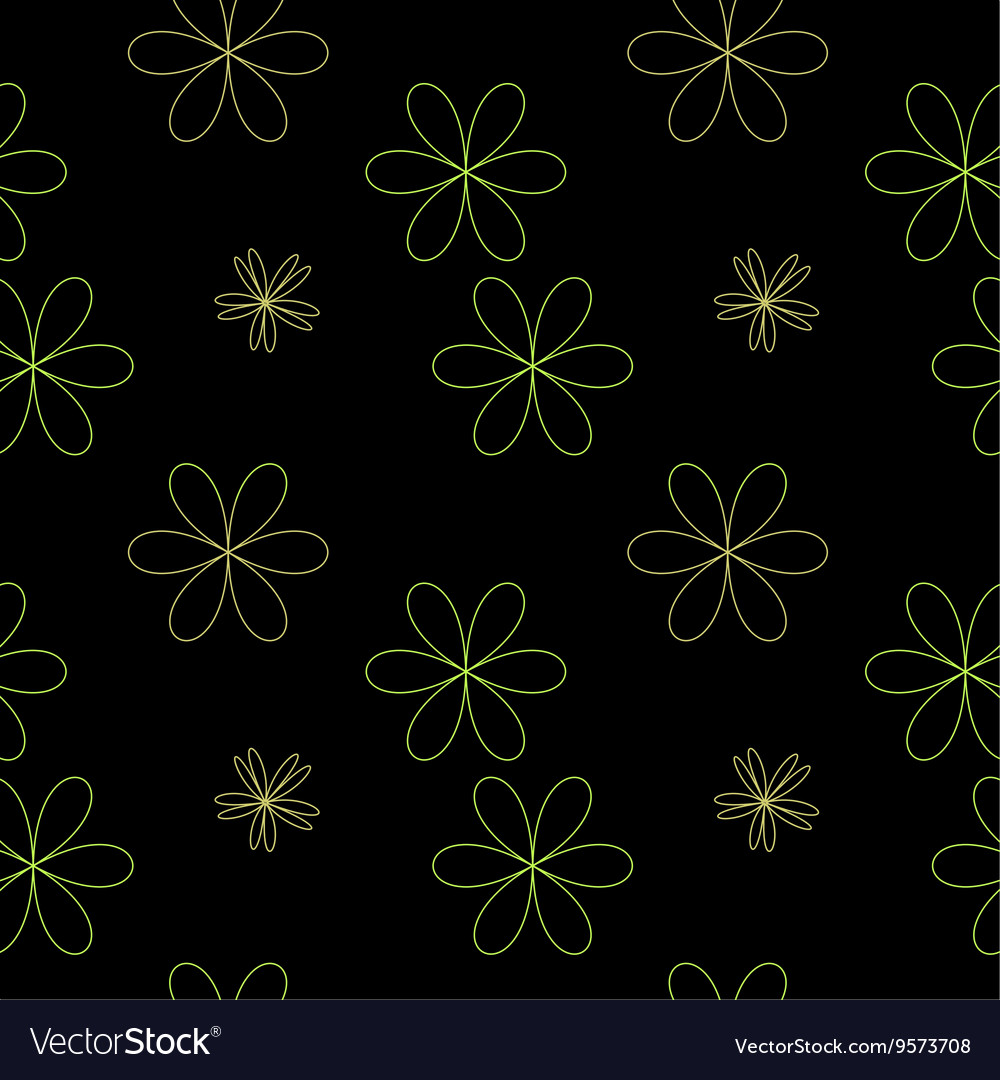 Flower chaotic seamless pattern