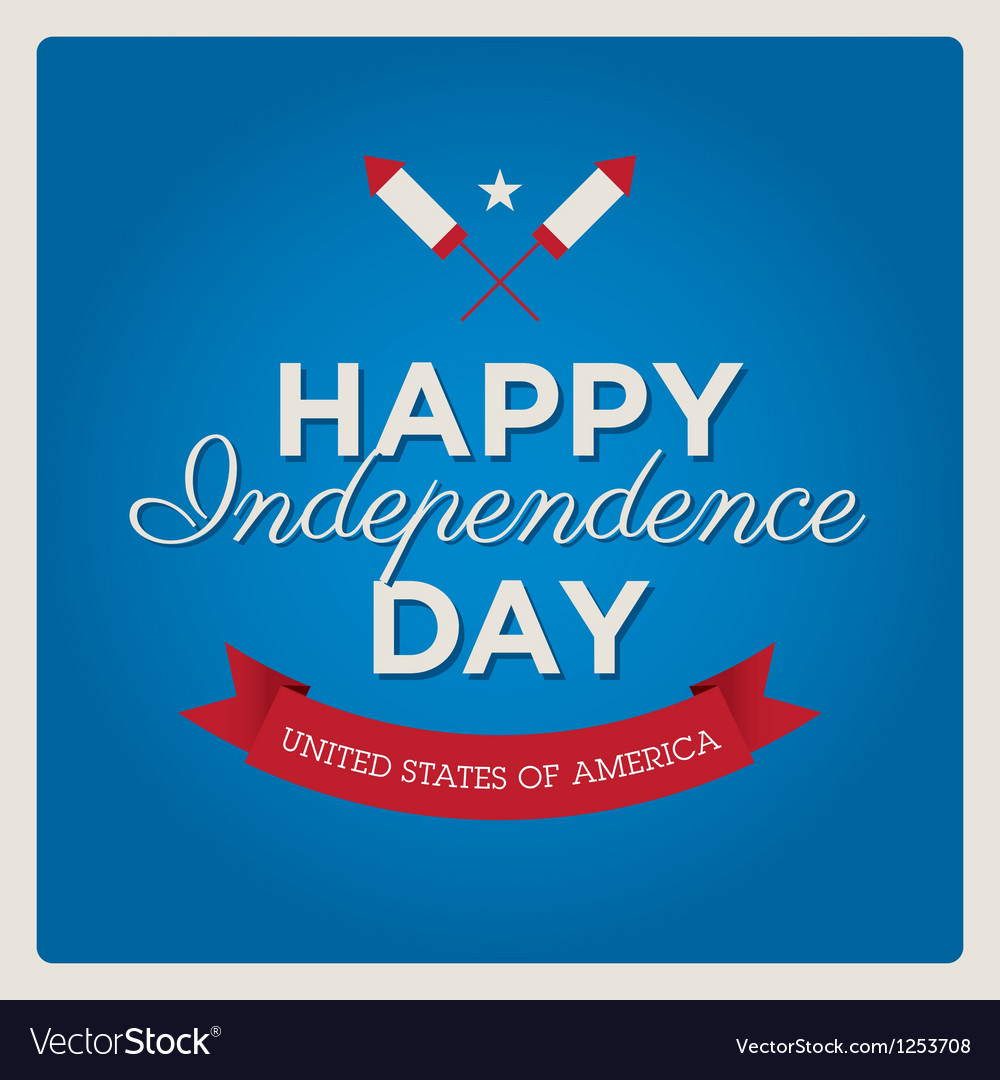 Happy independence day usa card fonts