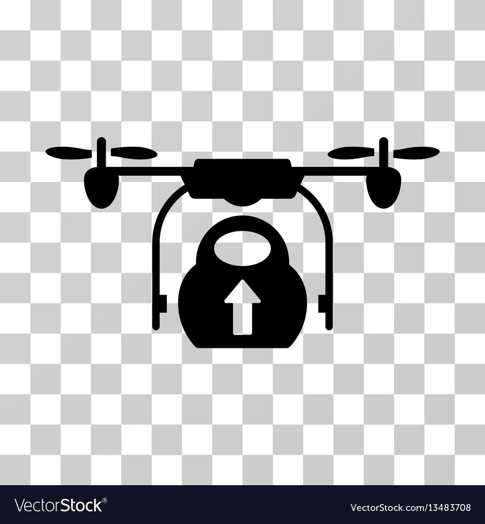 Load cargo drone icon vector image