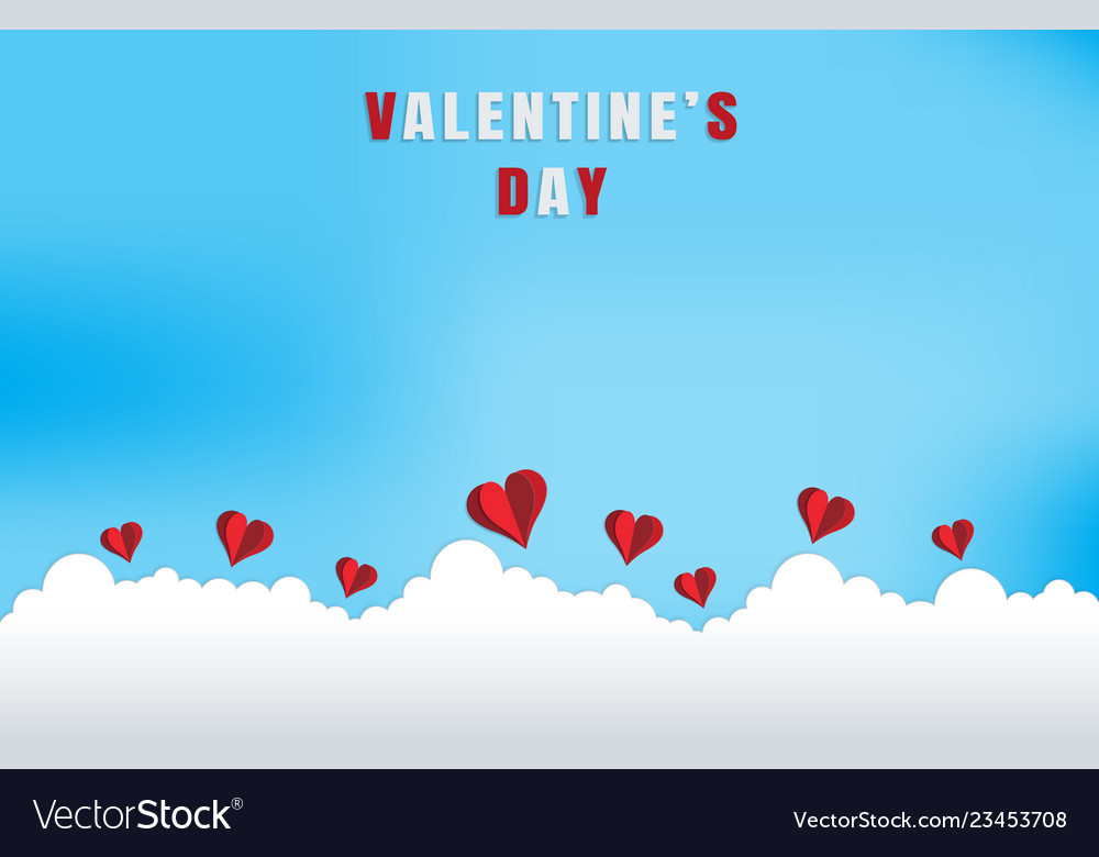 Love and valentine dayorigami made flying on the