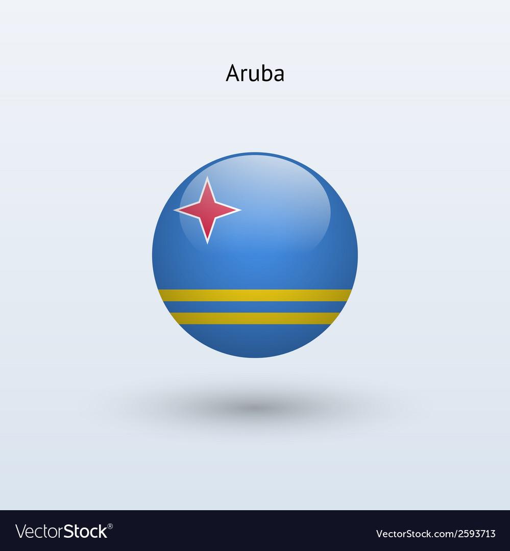 Aruba round flag