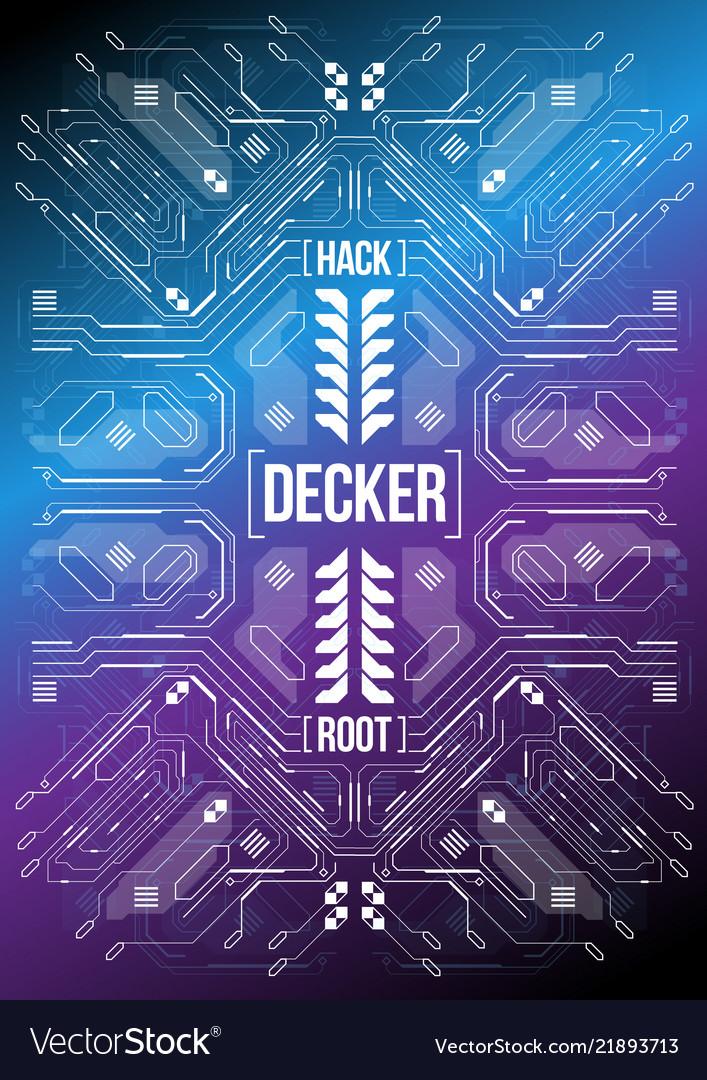 Cyberpunk futuristic poster tech abstract poster