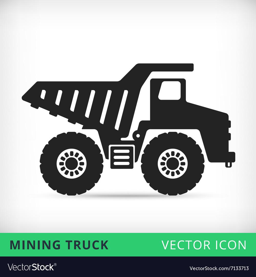 Dump truck icon vector image