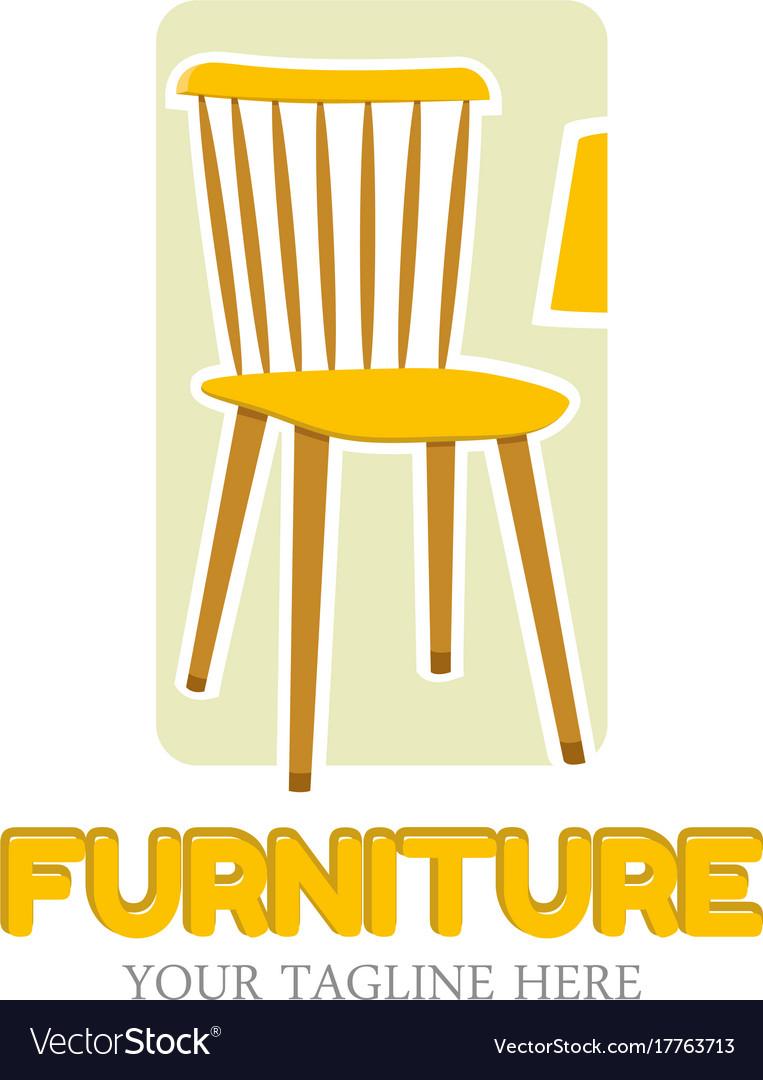 Furniture logo design template home