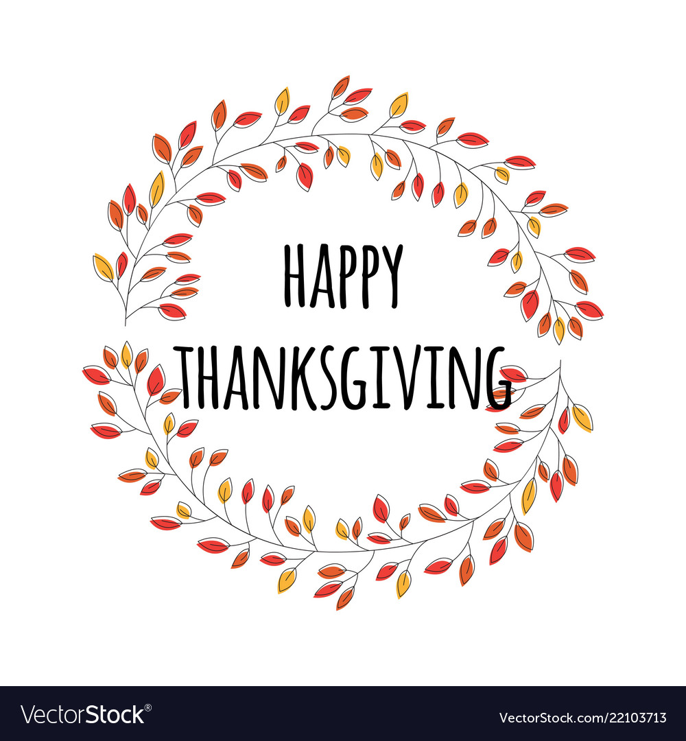 Happy thanksgiving day card with decorative