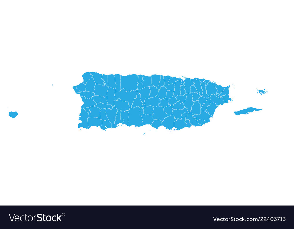 Map of puerto rico high detailed map - puerto rico