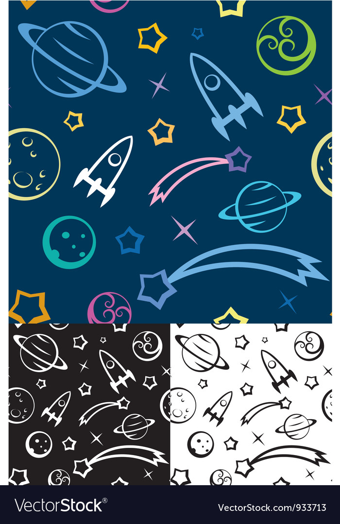 Seamless pattern Space vector image